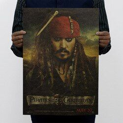 Pirates of the Caribbean Vintage Kraft Paper Movie Poster Home Wall Decoration  Art Magazines  Retro Posters and Prints