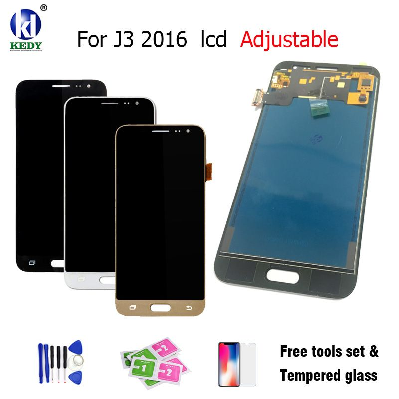 For Samsung Galaxy J3 J320 J320A J320F J320M J320FN 2016 LCD Display With Touch Screen Can Adjust Brightness Free Too Adjustable