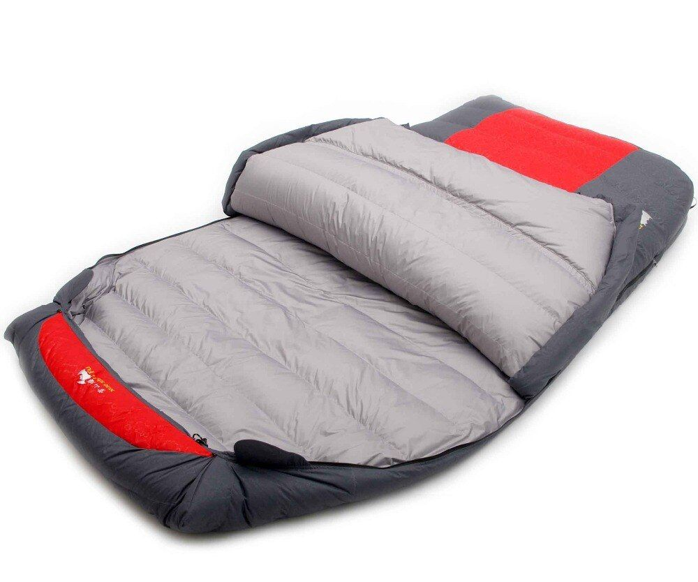 Xueshanfu 2 Person 4500G/5000G Duck Down Filling Professional Warmth Waterproof Comfortable Camping Sleeping Bag Slaapzak
