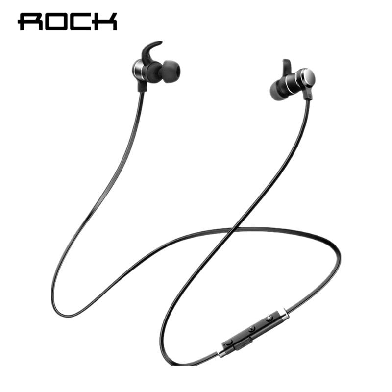 ROCK Bluetooth Earphones In-Ear Magnetic Neckband Headphone Sweat Waterproof For <font><b>Running</b></font> Budget Wireless Sleep Headsets