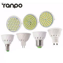 New Led Light Lamps E27/E14/GU10/MR16 LED Lamp Spotlight 6/9/12W 220V High Lumen 2835 SMD 48/60/80 LEDs Bulbs Light Warm/Cool