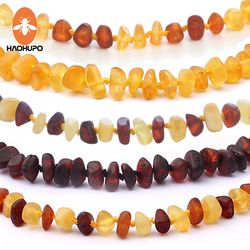 HAOHUPO 16 Colors Amber Teething Bracelet/Necklace for Baby Adult Lab Tested Authentic 8 Sizes Natural Amber Stone Women Jewelry