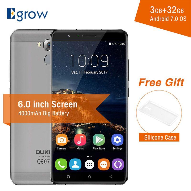 Oukitel U16 Max Android 7.0 MTK6753 Octa Core Smartphone 3G RAM 32G ROM 6.0