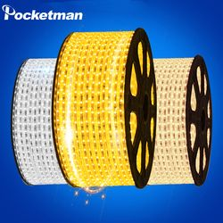 Led Ruban 220 V SMD 5050 Flexible Led Light Strip 1 M/2 M/3 M/4 M/5 M/6 M/7 M/8 M/9 M/10 M/15 M/20 M + Plug Power, 60 leds/m IP65 Étanche