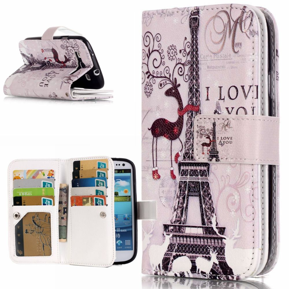 3D Relief Flower Flip Case For Samsung Galaxy S3 Case Leather Wallet Silicone Phone Case Samsung Galaxy S3 Cover i9300 Neo Duos