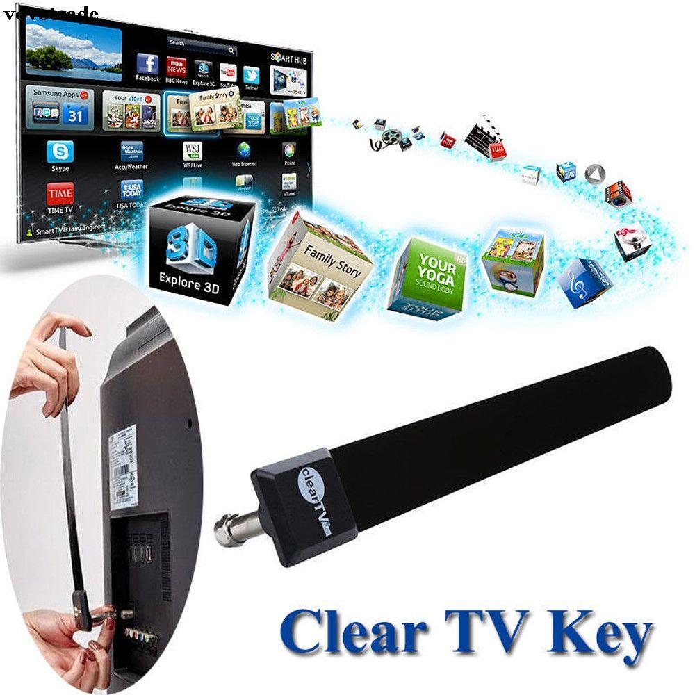 Vovotrade Klar Schlüssel HDTV FREIES TV Digitale Zimmerantenne 1080 p Graben Kabel, Wie auf Fernseh Drop Verschiffen
