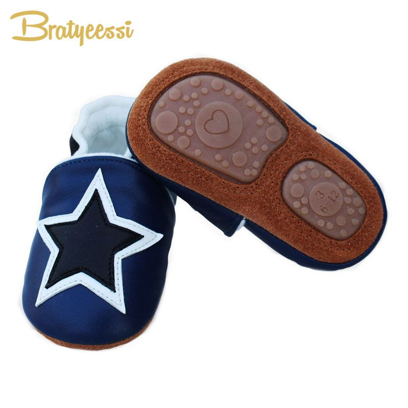 New Star Winter Baby Shoes Plush Lining Genuine Leather Baby Moccasins Anti Slip Infant Baby Boy Shoes 3 Colors