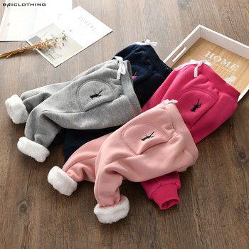 2017 зима-осень Детские эластичные штаны для девочек штаны с вышивкой Детские флисовые штаны 90-130 см Высокое качество Лидер продаж