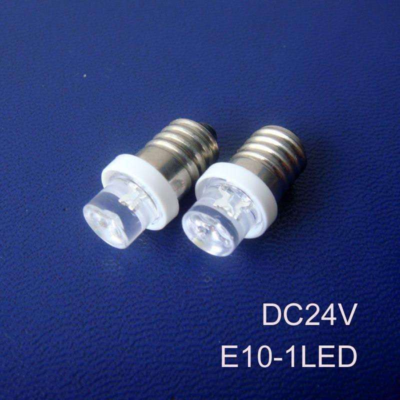 High quality 24V E10 led lights,24V Truck led E10 bulb, E10 led Indicator Lights,E10 Signal lights 24v free shipping 500pcs/lot