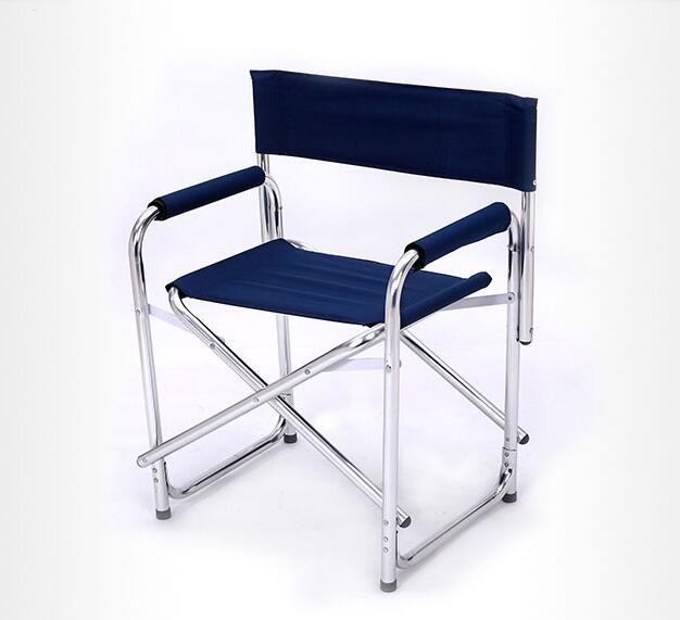 Date Double Couche Coton-rembourré Salon Chaise En Alliage D'aluminium Chaises de Bureau Portable Pliant Tabouret En Plein Air Chaises De Plage