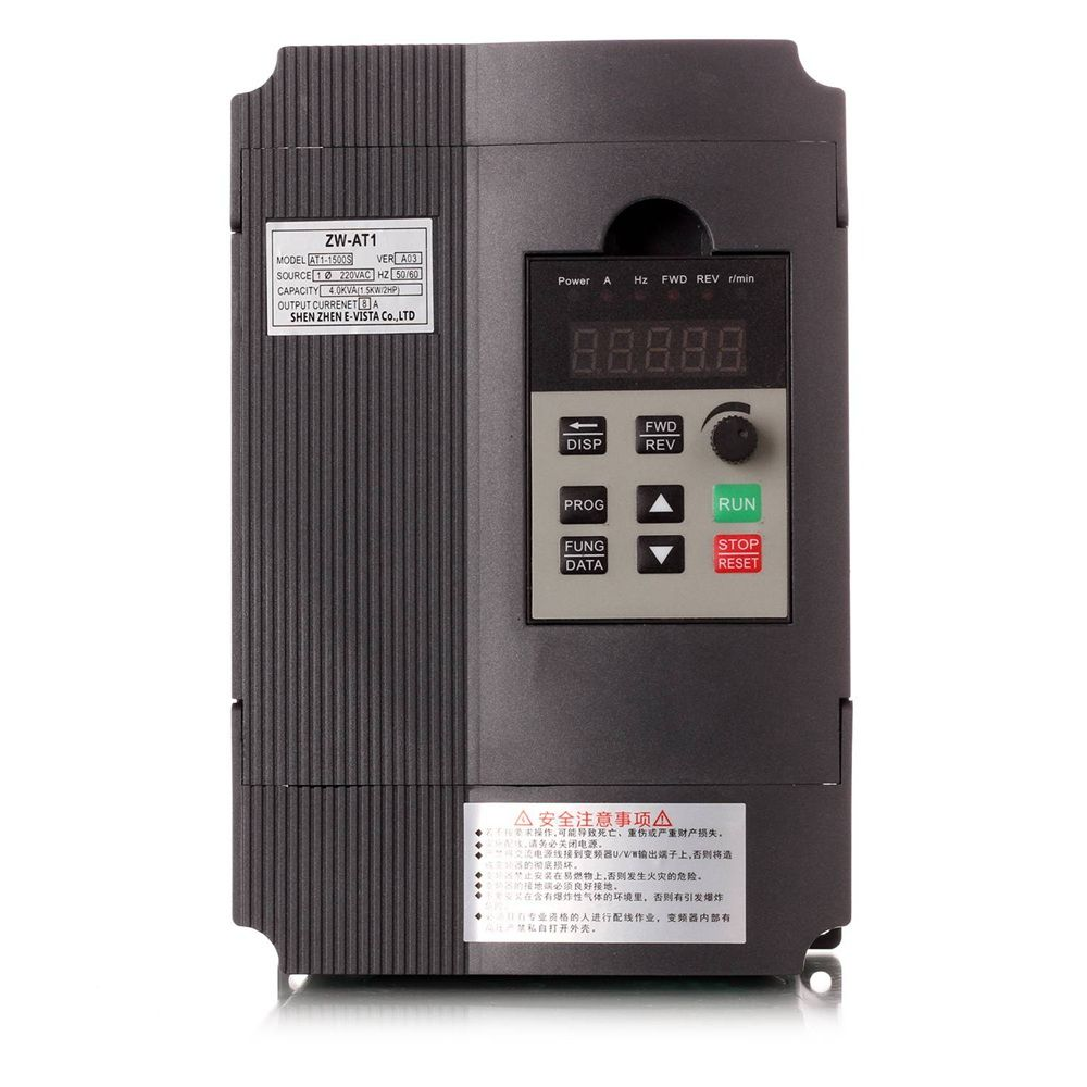 VFD Inverter 1.5KW/2.2KW/4KW Mini frequency Converter ZW-AT1 3P 220V or 3P Delta 380V Output with small shipping fee wyt3