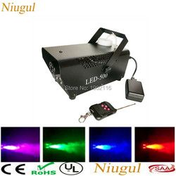 Remote or wire control LED 500W smoke machine/RGB change color fog machine/professional smoke ejector/stage equipment/LED fogger