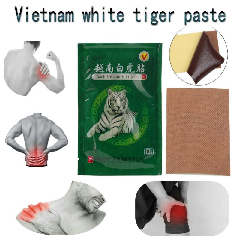40pcs White Tiger Balm Vietnam Pain Plaster Pain Relief Dehydration pain rheumatism Muscle Arthritis Neck Meridians Patch