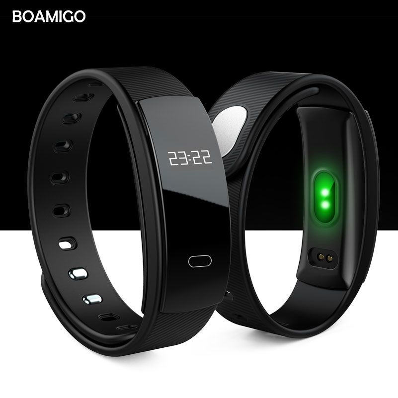 smart watches BOAMIGO brand bracelet wristband bluetooth heart rate message reminder Sleep Monitoring for IOS Android <font><b>phone</b></font>