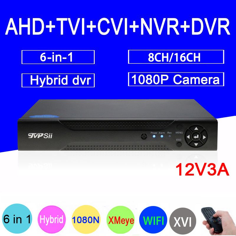1080P 2MP Surveillance Camera XMeye 16CH/8CH 1080N 6 in 1 Coaxial Hybrid Wifi XVI TVi CVI IP NVR AHD CCTV DVR Free Shipping