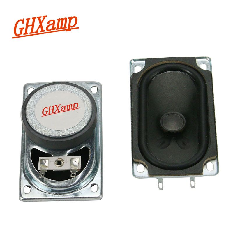 GHXAMP NEW 8OHM 15W TV Speaker High-end Full Range Speakers Rubber Cone LoudSpeakers Rectangle 50*90MM  1 Pairs
