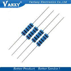 10pcs 3W Metal film resistor 1% 1R ~ 1M 1R 4.7R 10R 22R 33R 47R 1K 4.7K 10K 100K 1 4.7 10 22 33 47 4K7 ohm
