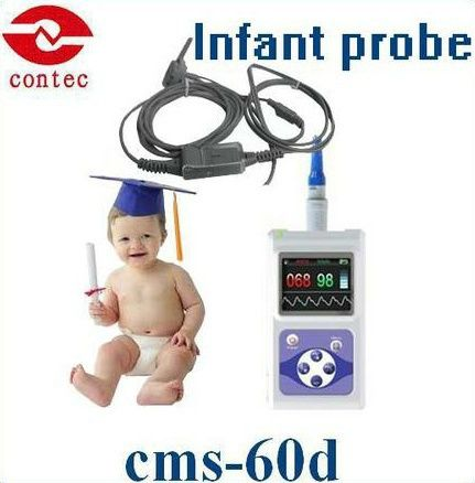 Oximetro de dedoInfant SPO2 Monitor& pulse oximeter with free software and larger color screen