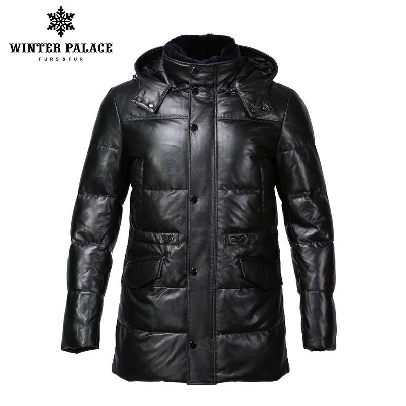 Anzug stil leder jacke männer Bringen hut leder jacke Interne Baumwolle jacke mens echtes leder Warme jaqueta de couro