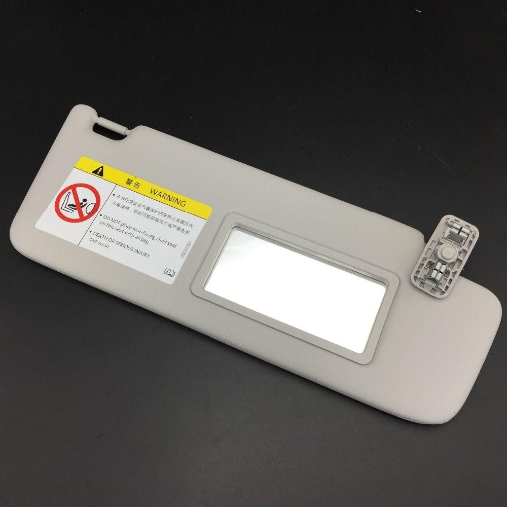for VW Skoda Rapid Gray Sun Visor Left or Right Makeup Mirror Board Driver or Passenger Side Grey Color