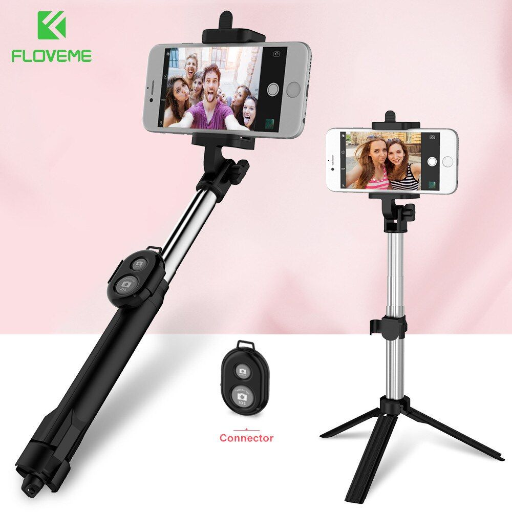 FLOVEME Selfie Bâton Bluetooth Connexion Selfie Bâtons Trépied Pour Samsung Galaxy S8 Xiaomi Trépied Selfie Bâton Pour iPhone 6 7