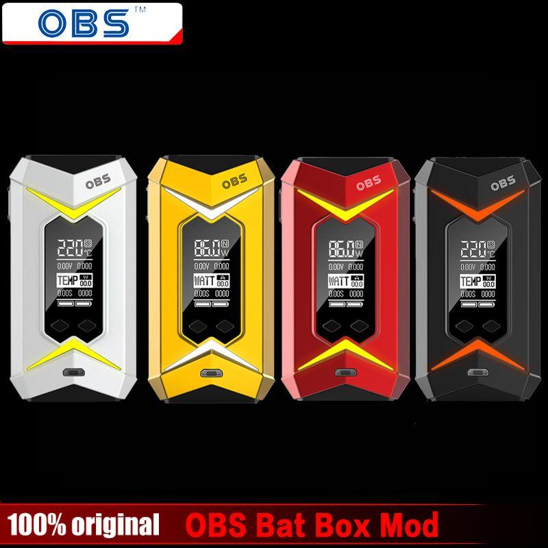 100% Original OBS Bat TC Box Mod 218W Vape Vapor Battery Box E Cigarettes Match OBS Engine/Crius/Damo Tank