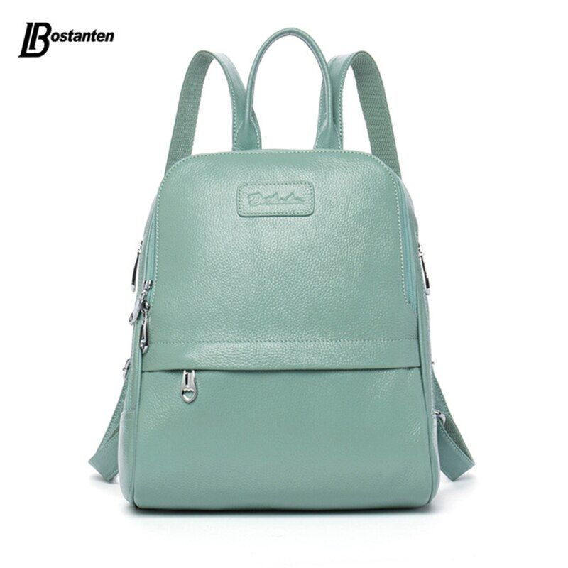 Bostanten Fashion Genuine Leather Backpack Women Bags Preppy Style Backpack <font><b>Girls</b></font> School Bags Zipper Kanken Leather Backpack