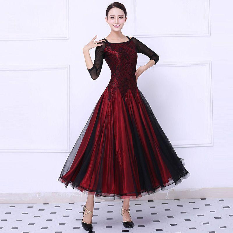 Ballroom Wettbewerb Tanzkleid Frauen Tango Flamenco-tanz-kleid Walzer Tanzen Rock-dame Hohe Qualität Nach Maß Ballroom Dance Kleider