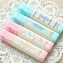 Lindo Kawaii corazón flor gomas raya encantadora borrador de lápiz para los niños regalo Corea papelería estudiante 2257