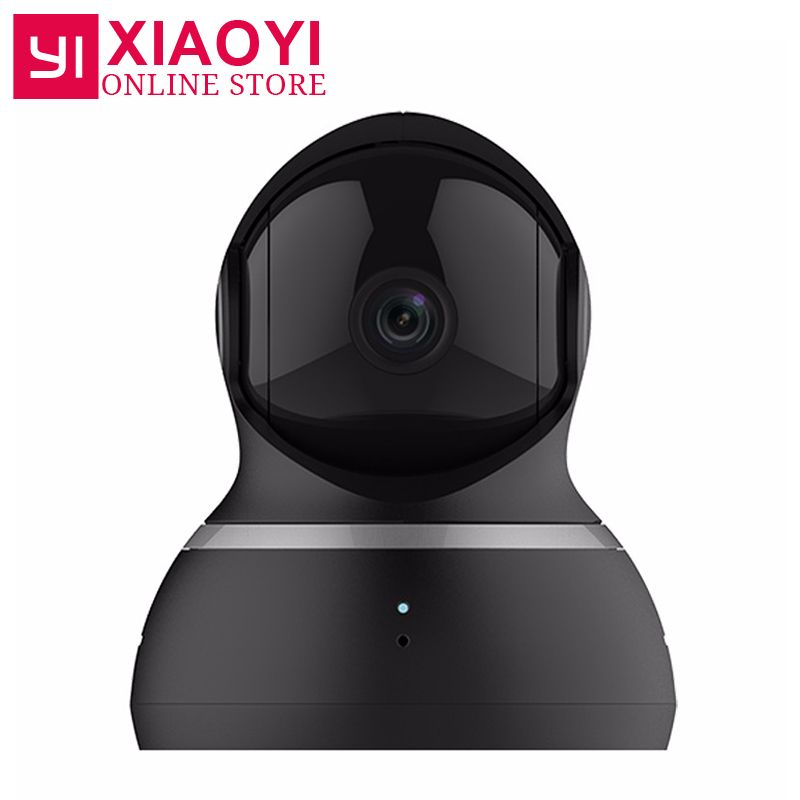 [International Edition] Yi 1080P Dome Camera XIAOMI YI Dome IP Camera Pan-Tilt Control 112 Wide Angle 360 Degree <font><b>View</b></font> 2 Audio