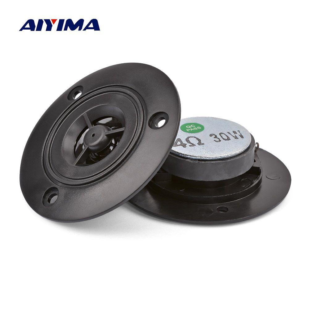 AIYIMA 2Pcs 3Inch Mini Audio Portable Speakers 4Ohm 30W Altavoz Portatil Tweeter Altavoz Bluetooth Speaker DIY Home Theater