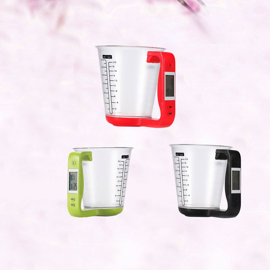 1Pcs Digital kitchen Electronic Measuring Cup <font><b>Scale</b></font> Household Jug <font><b>Scales</b></font> with LCD Display Temp Measurement 16x12.5x13.5cm