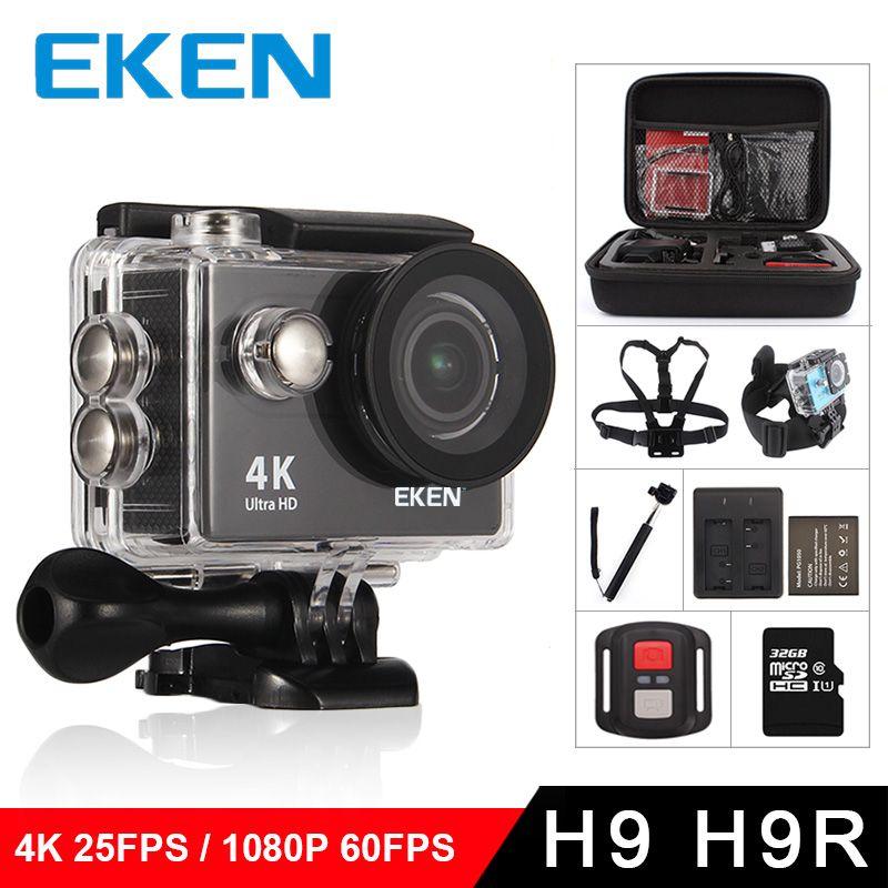 EKEN H9R/H9 D'action Caméra Ultra HD 4 k/25fps WiFi 2.0 170D Sous-Marine Étanche Casque Vidéo enregistrement Photo Sport Cam