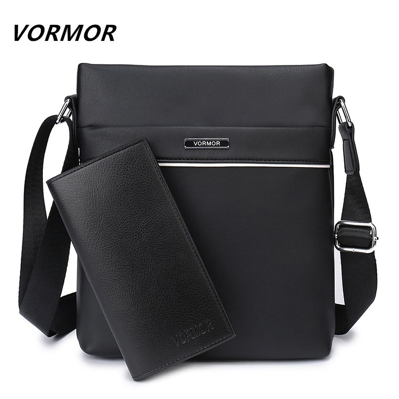VORMOR Famous Brand Casual Men Bag Business Leather Men <font><b>Messenger</b></font> Bags Vintage Shoulder Crossbody Bag For Male DropShipping