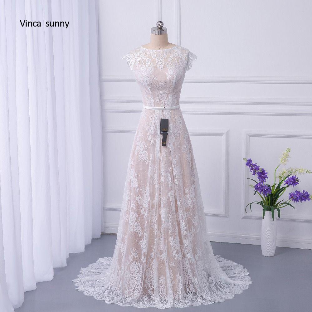 vinca sunny 2018 Bridal Boho Lace Wedding Dress 2018 Wedding Dresses Court Train vestidos de noiva robe de mariage Robe de Maria