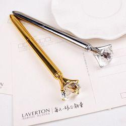 Métal véritable gros Diamant Stylo à Bille de Haute Qualité Fashion Business Stylo promotion école papeterie Cadeau cristal stylo
