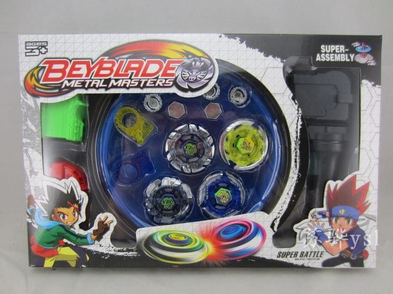 Beyblade Metal Fusion Set 4 pcs Beyblades avec lanceurs Beyblade Arena Constellation toupie S40