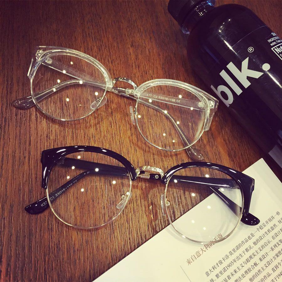 2017 heißer verkauf Hohe Qualität halbrahmen Preety Retro frauen Cat Eye Brillen Rahmen Klare Gläser Brillen brillen optische
