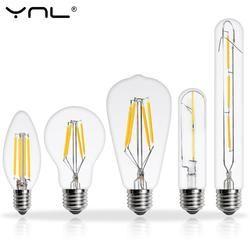 YNL E14 E27 LED Edison Ampoule 220 V 2 W 4 W 6 W 8 W Antique Rétro Vintage LED Lampe À Incandescence Ampoule Vintage pendentif En Verre Lumière ampoule