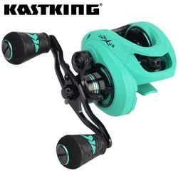 KastKing Alat Crixus 5 + 1/7 + 1BBs Super Ringan Baitcasting Reel Dual Sistem Rem Air Tawar Baitcasting Memancing Reel 8Kg Drag