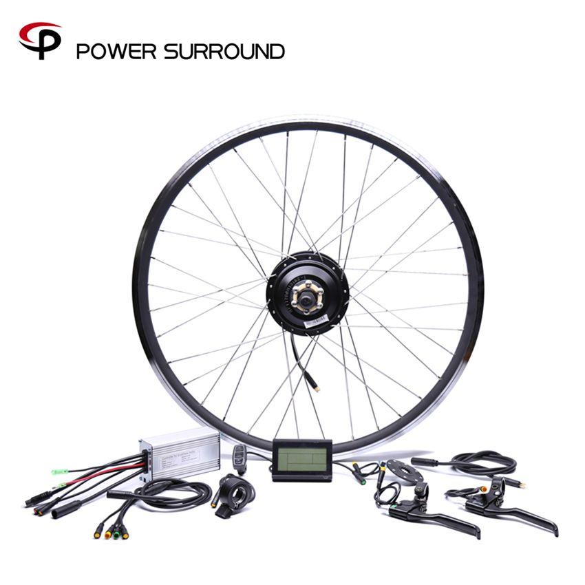 Waterproof 48v500w Bafang Front/rear Electric Bike Conversion Kit Brushless Hub Motors 20'' 26'' 28''diy Wheel
