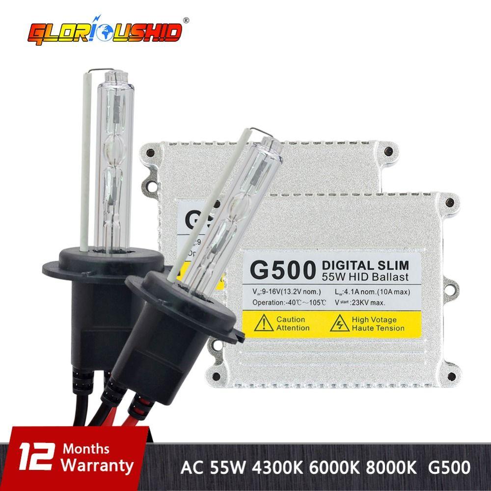 Xénon H7 Haute Qualité H1 H3 H4 H7 H11 9005 9006 881 55 w 12 v AC HID Kits Xénon ampoule 4300 k 6000 k 8000 k Slim Xenon Ballast