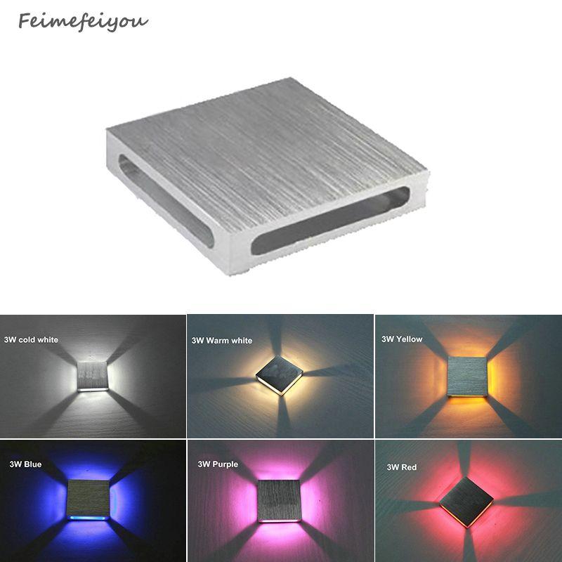 Feimefeiyou haute qualité moderne intérieur 3 W lampe à mur LED AC110V/220 V matériel aluminium applique chambre décorer applique murale