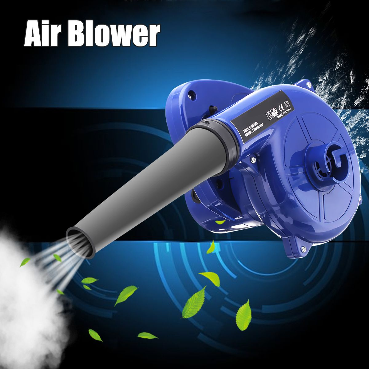 600W 220V Electric Handheld Air Blower Computer Dust <font><b>Collector</b></font> Fan Vacuum Cleaner Dust Collecting Leaf Car Dust Blowing Remover
