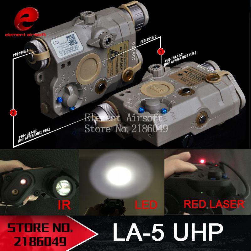 Element Airsoft LA-5 Laser rouge IR Laser lampe de poche LED apparence Laser LA5 IR PEQ rouge Laser lampe de poche tactique EX396