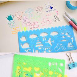 4 pcs Corée Papeterie Bonbons Couleur Règle Oppssed Dessin Modèle Bureau Peinture Fournitures