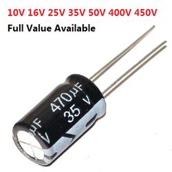 20 pcs 50 V condensateur électrolytique En Aluminium 50 V 0.47 UF 1 UF 2.2 UF 3.3 UF 4.7 UF 10 UF 22 UF 33 UF 47 UF 100 UF 220 UF 330 UF 470 UF 0.47/2.2