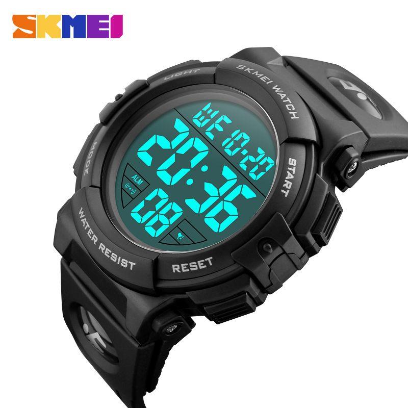 SKMEI Chrono hommes montre Top luxe marque Sport montre électronique numérique mâle horloge homme 50M étanche hommes montres 1258