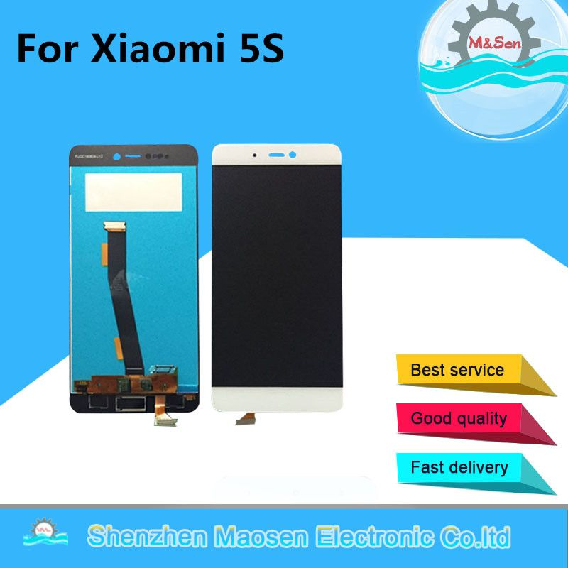 M&Sen For Xiaomi 5s Mi5s M5s MI 5S MI LCD screen display + Touch panel digitizer white/black free shipping with tools