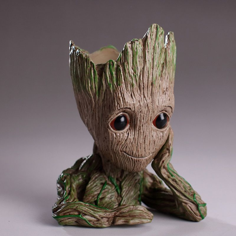 New 14CM baby grootted Guardians Of The Galaxy Flowerpot Action Figures Cute Model Toy Pen Pot Best Christmas Gifts Kids Hobbies